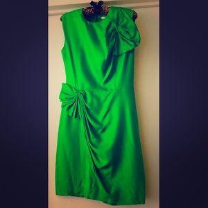 DIANE VON FURSTENBERG Emerald Green Silk Dress 💚